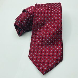 Nautica Mens Tie Red Silk 3.5 x 60″